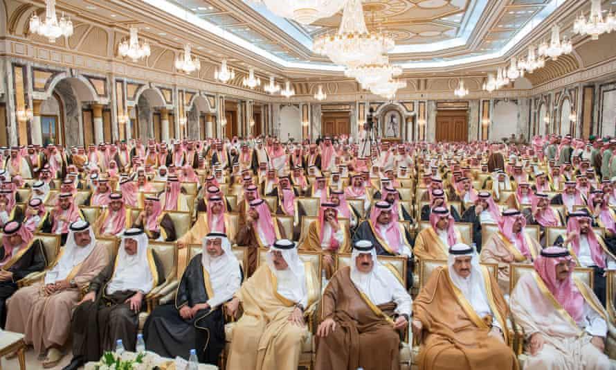 Members of Saudi Arabia's royal family and dignitaries.