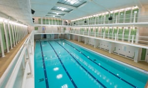 A view of the refurbished pool.