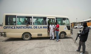 About 25 Haitians who were deported from the United States arrive following a flight at Toussaint Louverture international airport in Port-au-Prince, Haiti, in June.