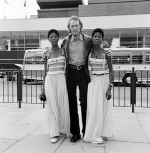 Musical collaborators … the Lijadu Sisters with Ginger Baker in August 1972.