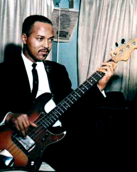 Bassist James Jamerson of the Funk Brothers, 1962.