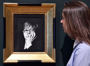 Irving Penn's portrait of Elton John on show.