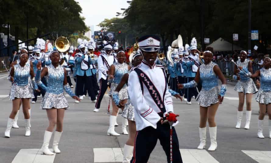 The annual Bud Billiken parade, which has been held since 1929 in Chicago's Bronzeville neighbourhood