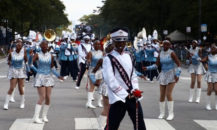 The annual Bud Billiken parade, which has been held since 1929 in Chicago's Bronzeville neighbourhood