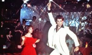 Karen Lynn Gorney and John Travolta in Saturday Night Fever