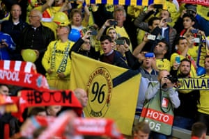 Villareal fans show support for the victims of Hillsborough.