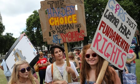 Fifty years of fighting for abortion rights ... Parliament Square protest in June 2017.