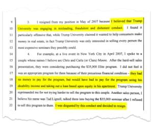 Ronald Schnackenberg's testimony.