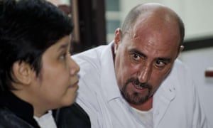 Serge Atlaoui with his lawyer, Nancy Yuliana, during a hearing on 1 April.