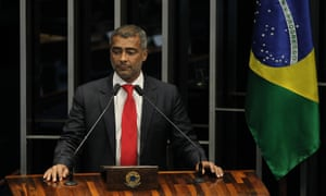 Romario takes part in a plenary session of the Senate in Brasilia.