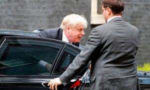 The foreign secretary, Boris Johnson, in Downing Street