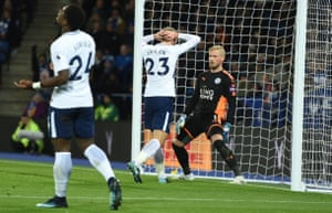 Christian Eriksen reacts after his miss.