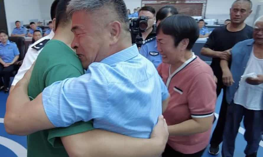 Guo Gangtang is reunited with his son