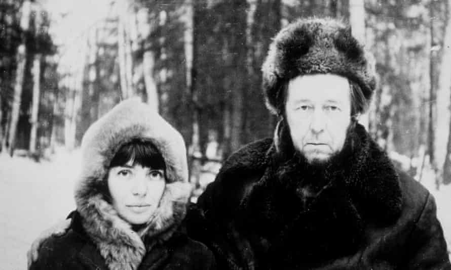 'The canvassing from many quarters for his candidacy does not take into account the consequences for him' ... Aleksandr Solzhenitsyn, with his wife Natalia.