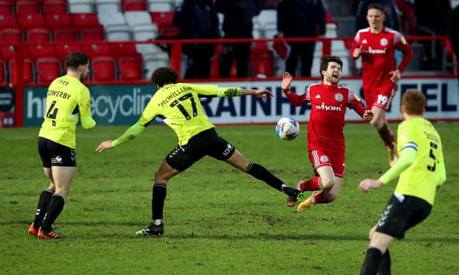 Action from Accrington Stanley's League One game against Northampton this month.