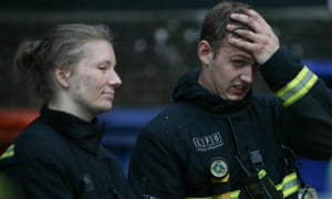 London firefighters who fought the Grenfell Tower blaze were spoken to by counsellors before they went off duty.