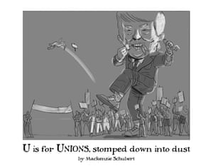 U is for Unions, stomped down into dust