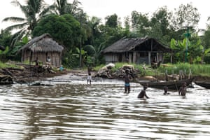 Children playing in waters in the Niger Delta
