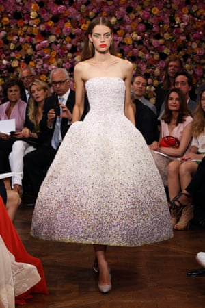 Designed by Raf Simons autumn/winter 2012 haute couture