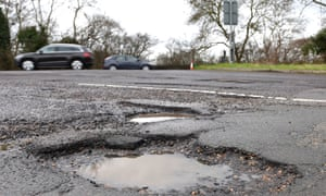 The transport secretary says potholes are 'the biggest enemy for road users'.