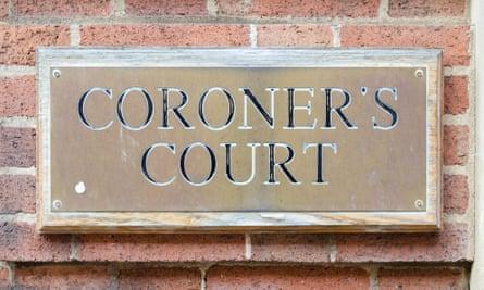 Coroner's court sign