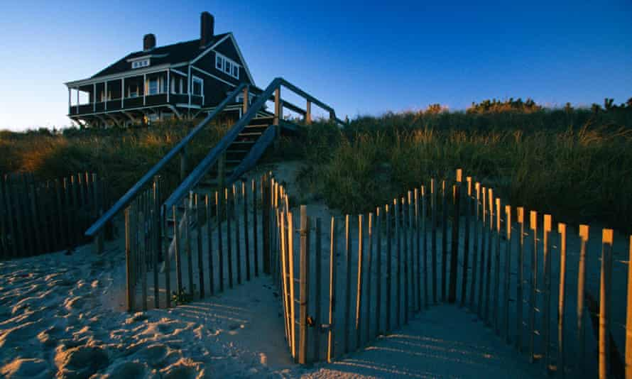 A seaside residence in East Hampton, Long Island, NY, where oceanfront homes can easily sell for more than $50m.