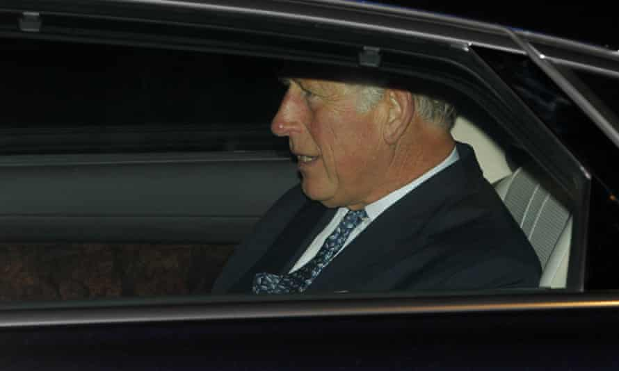 Prince Charles in a car