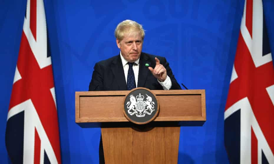 Boris Johnson announces a UK-wide 'health and social care levy' to address funding.