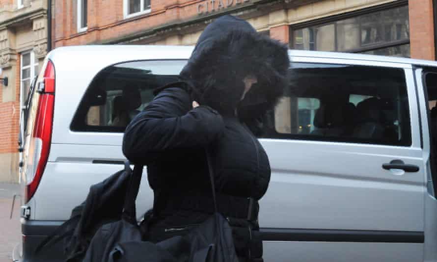 Alice Cutter arriving at Birmingham crown court.