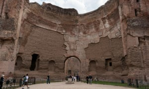 The baths of Caracalla, Rome: daily capacity is thought to have been 6,000 to 8,000 bathers.