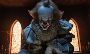 Clowning around: Bill Skarsgård as Pennywise, star of the remake of Stephen King's It.