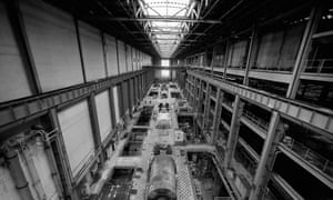 Tate Modern's Turbine Hall in the 90s, when it was still Bankside power station.