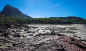 A photo taken on Hinchinbrook Island off the northern coast of Queensland, Australia. The island is home to Thorsbourne Trail, a four-day hike. Credit: Queensland Tourism