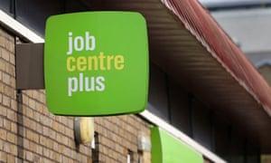 A Jobcentre Plus near Westferry in east London.