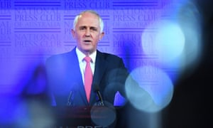 Prime Minister Malcolm Turnbull at the National Press Club in Canberra, 1 February, 2017.