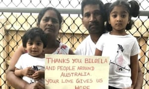 Tamil family Biloela family of four, Priya, husband Nade and their two children