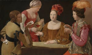 The Cheat with the Ace of Clubs by Georges de la Tour (about 1630-34), from the National Gallery's Beyond Caravaggio exhibition.