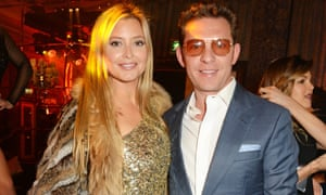 Holly Valance and Nick Candy attend a 'Studio 54' evening at the Dorchester hotel in London.