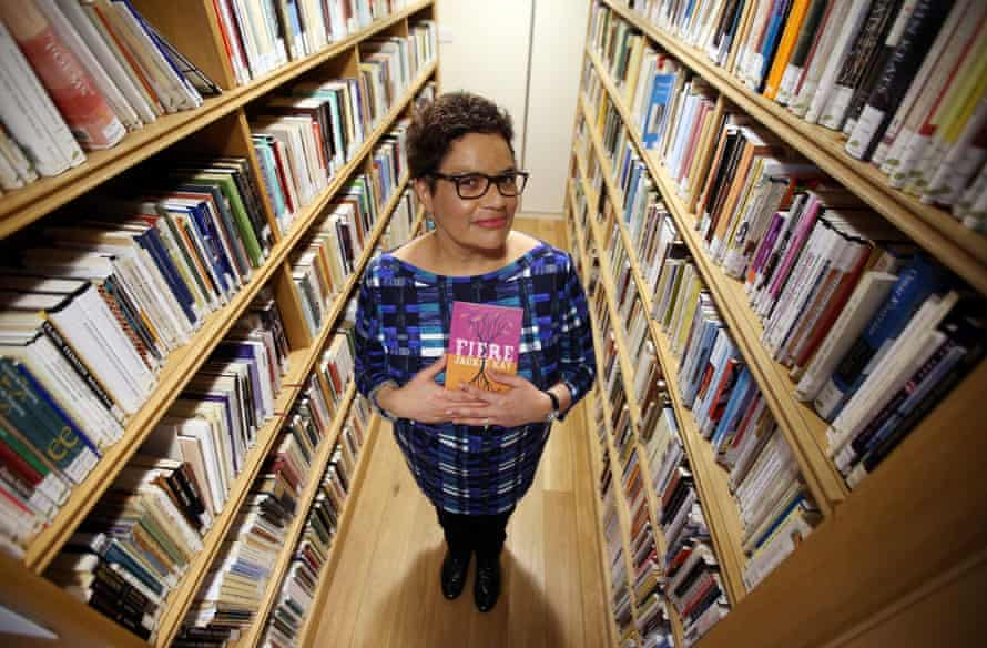 New Makar Jackie Kay (National Poet for Scotland) with her book Fiere at the Scottish Poetry Library in Edinburgh. PRESS ASSOCIATION Photo. Picture date: Tuesday March 15, 2016. Photo credit should read: Andrew Milligan/PA Wire
