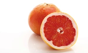 Oranges are not the only fruit: a 'Star Ruby' grapefruit.