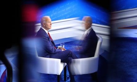 Joe Biden at Thursday's town hall.