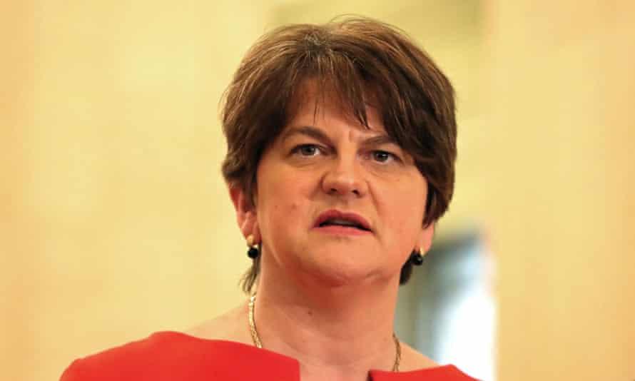 DUP leader Arlene Foster on 13 Jan 2021.