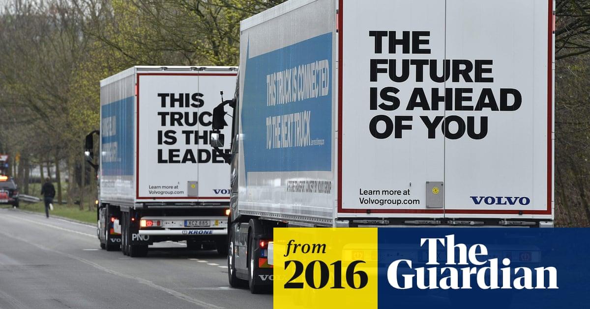 fd696b77c15 Convoy of self-driving trucks completes first European cross-border trip