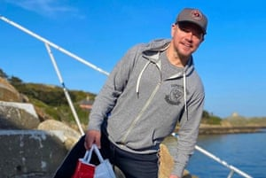 Matt Damon in Dalkey, photographed by local resident Siobhan Berry