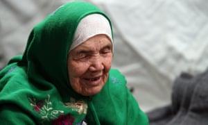 105-year old Afghan regugee Bibihal Uzbeki from Kunduz, Afghanistan