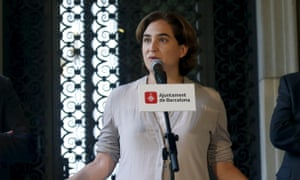 Barcelona mayor Ada Colau: 'If the centre fills up with multinationals and big stores, it doesn't work.'