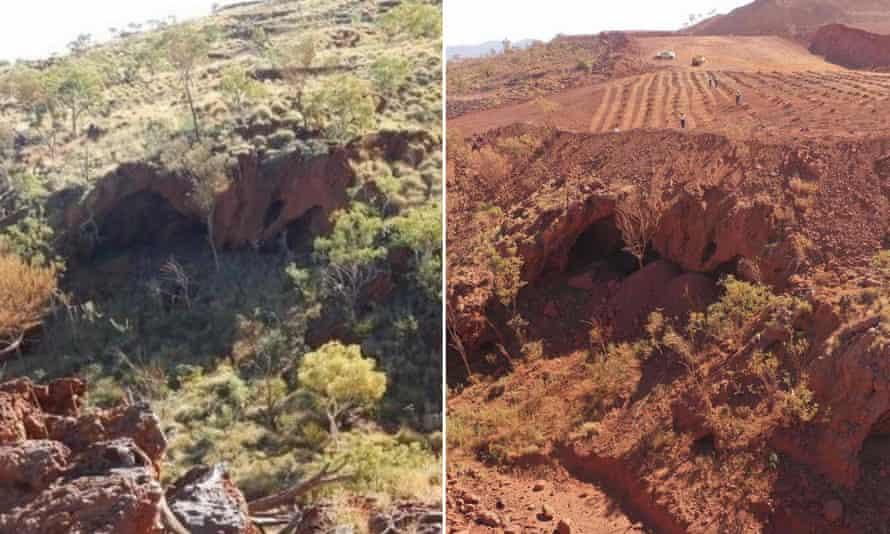 two shots of Juukan Gorge before the Rio Tinto blast