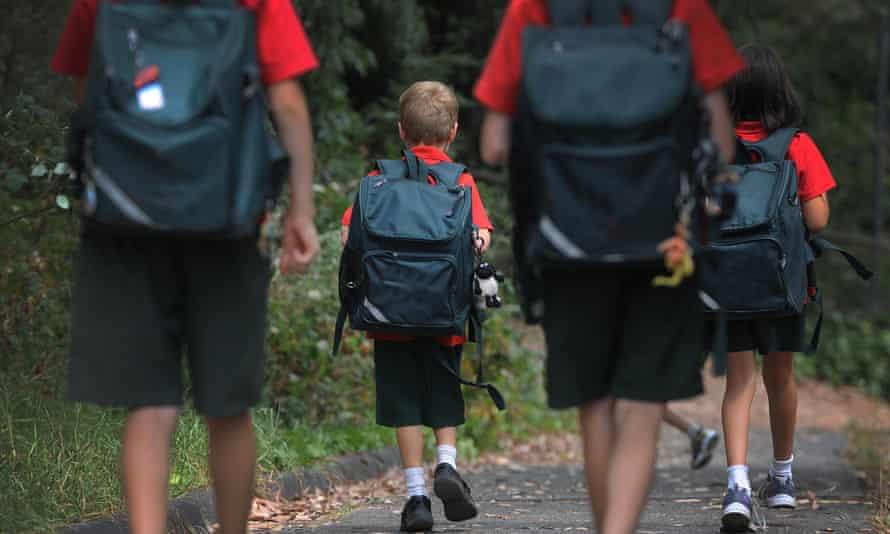 Schoolchildren walking