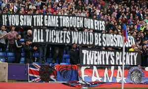 Crystal Palace v West Brom ticket campaigners