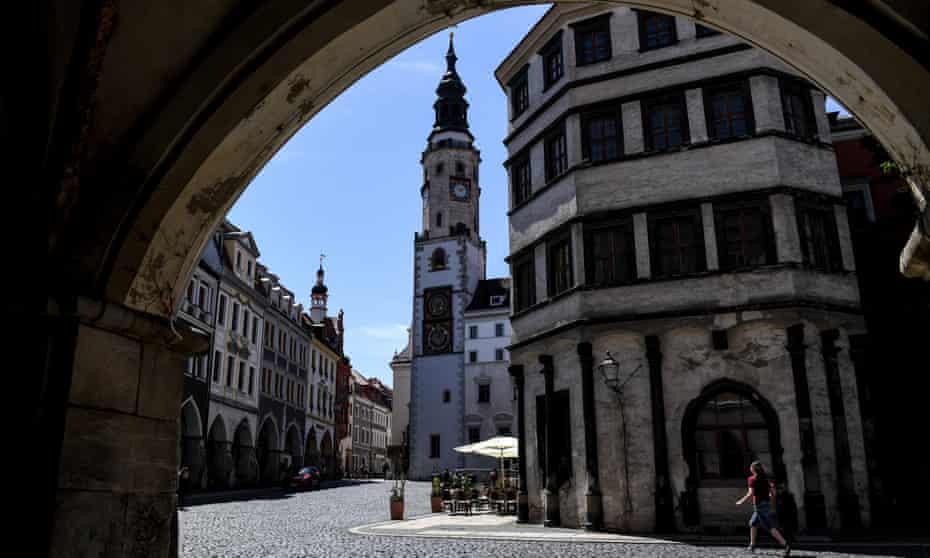 The historical city centre of Görlitz, Germany.